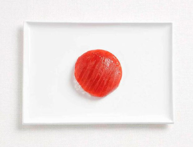 06-japan-flag-made-from-food-Tuna-and-rice