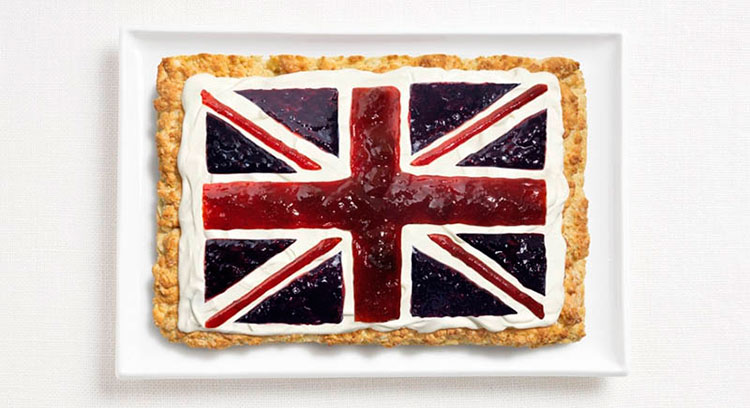 11-united-kingdom-flag-made-from-food-Scone-cream-jams