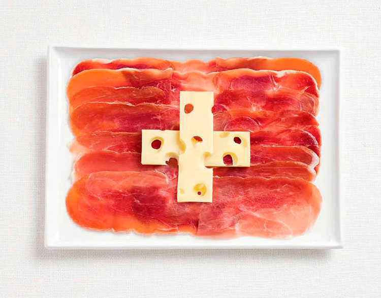 18-switzerland-flag-made-from-food-Charcuteries-and-emmental