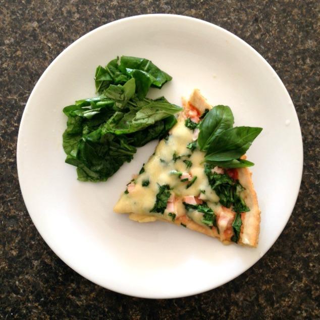 Recetas: Pizza de hojas verdes