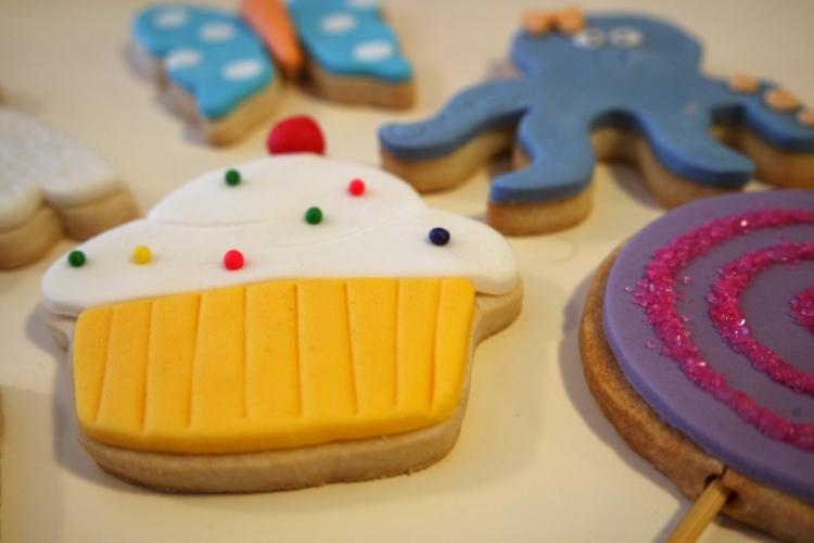 Algunas de las galletas que decoramos en el taller